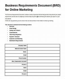 Sample Business Requirements Document Free 9 Business Requirement Sample Document In Ms Word