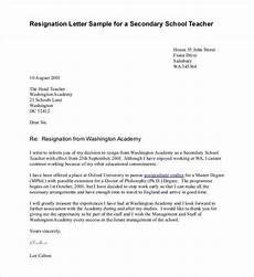 Resignation Letter Going Back To School 14 Teacher Resignation Letter Templates Pdf Doc Free