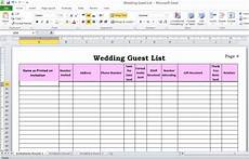 Wedding Guest List Spread Sheet Wedding Guest List In Excel Need To Use This Or Something