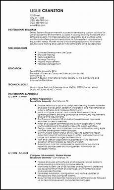 Entry Level Science Resumes Inspiring Resume Template Computer Science Ideas Free