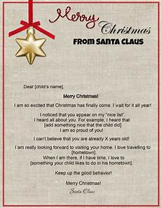 A Letter From Santa Template Free Letters From Santa