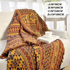 bohemian chenille towel blanket for sofa decorative