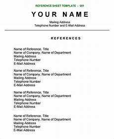 Resume With References Samples Reference Sheet Template Resume References Reference