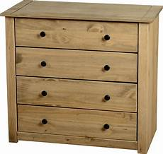 mexican pine panama 4 drawer chest of drawers like corona