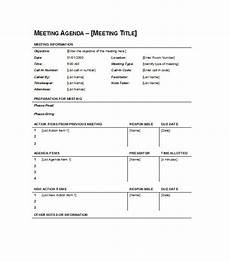 Agenda Layout Examples 51 Effective Meeting Agenda Templates Free Template