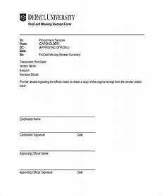 Original Receipt Template Free 10 Sample Missing Receipt Forms In Pdf Ms Word