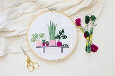 tata sol modern plants embroidery tutorial