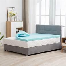 mecor 4 inch mattress topper 100 gel infused memory foam