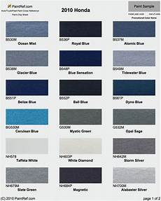 Honda Civic Color Code Chart Paint Chips 2010 Honda Accord