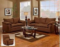 chocolate microfiber upholstered sofa and seat set