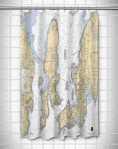 Chart House Narragansett Ri Narragansett Bay Ri Nautical Chart Shower Curtain
