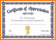 Certificate Of Appreciation Doc Certificate Of Appreciation Template Word Doc Printable