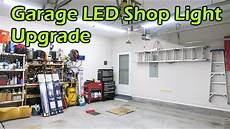 Best Lighting For Machine Shop Garage Led Light Upgrade To Brighten The Workspace Youtube