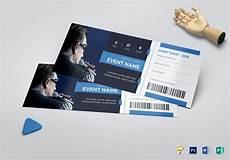 Tickets Design Elegant Event Ticket Design Template In Psd Word