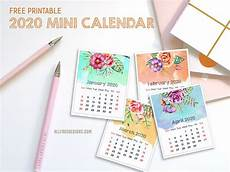 2020 Mini Calendar Printable Printable Mini Calendar For 2020 Free To Download And Print