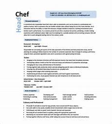 Free Chef Cv Template 14 Chef Resume Templates Word Pdf Google Docs Free
