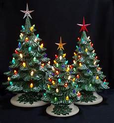 Ceramic Lighted Christmas Trees For Sale Old Fashioned Ceramic Christmas Tree 3 Tree By Darkhorsestore
