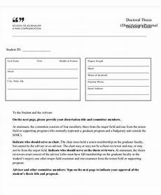 Thesis Proposal Template Word Thesis Proposal Template 9 Free Word Pdf Format Download