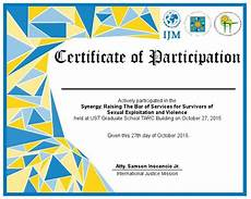 Sample Certificate Of Participation Free 9 Examples Of Certification Of Participation In Psd