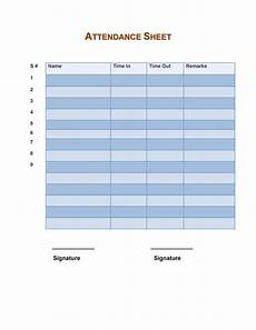 Google Forms Attendance Template 43 Free Printable Attendance Sheet Templates Templatelab
