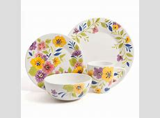 Laurie Gates Caro 16 Piece Dinnerware Set, Floral