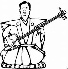 moench mit ukulele ausmalbild malvorlage musik