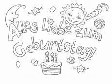 Ausmalbilder Geburtstag Ausdrucken Ausmalbilder Alles Gute Zum Geburtstag Drucken Sie Kostenlos