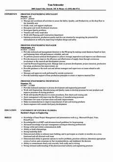 Process Engineering Resumes Process Engineering Resume Samples Velvet Jobs
