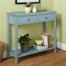 coaster 3 drawer accent console table in antique white