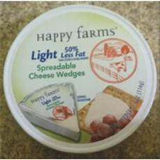 Happy Farms Light Spreadable Cheese Wedges Happy Farms Spreadable Cheese Wedges Light Calories