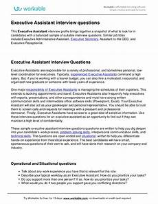 Interview Questions For Ceo Position Executive Assistant Interview Questions