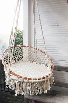 macrame chair boho macrame hanging chair eclectic collection
