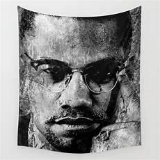 Malcolm X Designs Malcolm X Black Amp White Version Wall Tapestry Ideias