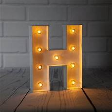 Metal Letters With Lights Wholesale White Marquee Light Letter H Led Metal Sign 8 Inch