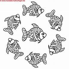Ausmalbilder Fische Mandala Mandala Vorlagen Malvorlagen Kostenlos Zum Ausdrucken
