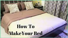 How To Make A Cover Sheet For A Paper How To Make A Bed How To Put A Bed Sheet On A Bed Youtube