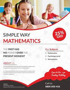 Math Tutor Flyer Examples Simple Math Tutoring Flyer Design Template In Word Psd