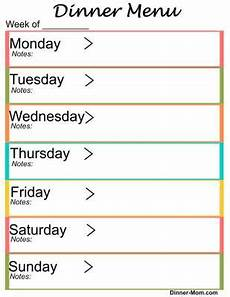 Weekly Dinner Schedule Free Printable Weekly Dinner Menu Planner The Dinner
