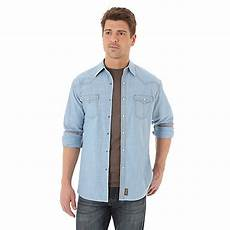 wrangler sleeve snap shirts for s wrangler retro 174 sleeve western snap solid shirt
