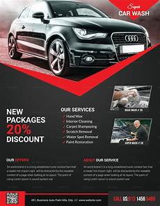 Car Wash Pictures For Flyer Super Car Wash Flyer Design Template In Psd Word Publisher