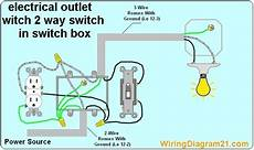 3 Way Switch Light And Outlet How To Wire An Electrical Outlet Wiring Diagram House
