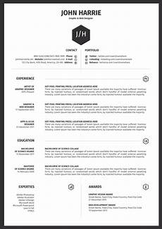 How To Make A One Page Resume Modern Simple Word Document Resume Templates