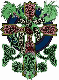 Welsh Celtic Designs Croix Celtique Et Dragons Croix Celtique Art Celtique