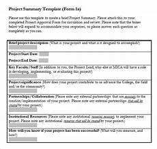 Project Summary Template Free 8 Sample Project Summary Templates In Pdf Ms Word