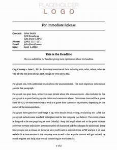 Press Releases Template Templates 187 Press Release