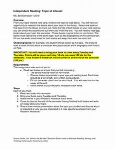 Essay About Reading Independent Reading Essay Presentation Assignment Intructions