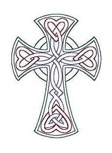 Celtic Cross Design Templates Redwork Celtic Trinity Knot Cross Embroidery Design