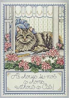 Joan Elliott Cross Stitch Charts Cottage Cat Je188 Cross Stitch Chart Joan Elliott Designs