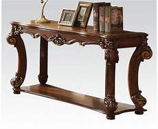 vendome traditional ornate sofa table with wood top in