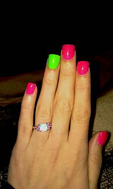 Light Pink And Green Nails My Pink And Green Nails My Favorite Colors Love